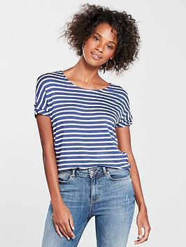 v-by-very-knot-sleeve-t-shirt-stripe