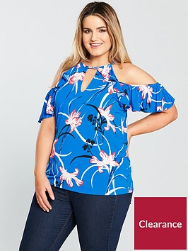 v-by-very-curve-cold-shoulder-printed-jersey-top