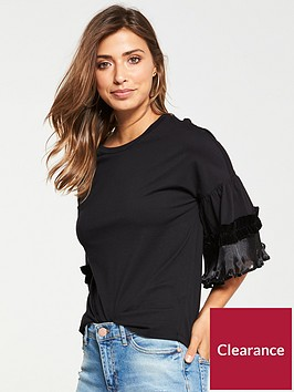 v-by-very-velvet-frill-t-shirt-black
