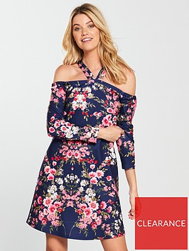 v-by-very-halter-neck-swing-dress-floral-print