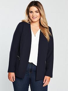 v-by-very-curve-zip-detail-longline-blazer-navy