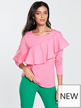 v-by-very-frill-long-sleeve-top-pink