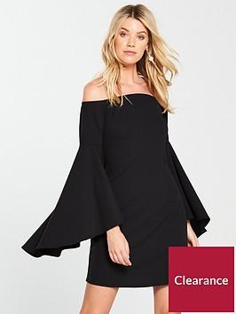 v-by-very-bardot-bell-sleeve-dress-black