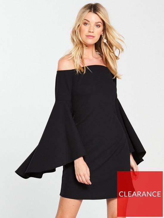 9158df0cf23 V by Very Bardot Bell Sleeve Dress - Black