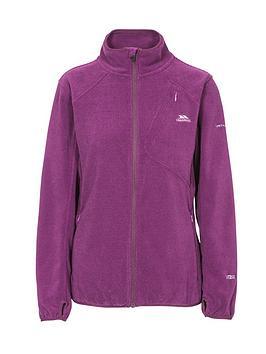 Trespass Ciaran Full Zip Ribbed Fleece Jacket - Purple