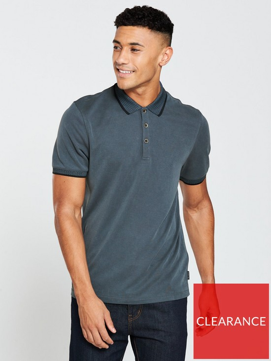 239a0698264dee Ted Baker Ted Baker Flat Knit Collar Oxford Polo Shirt