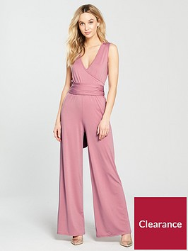 v-by-very-tie-waist-jersey-wrap-jumpsuit