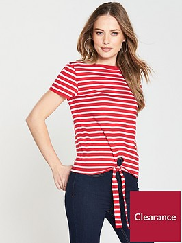 v-by-very-tie-front-stripe-top-redwhitenbsp