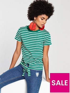 v-by-very-tie-front-stripe-top-greenwhite