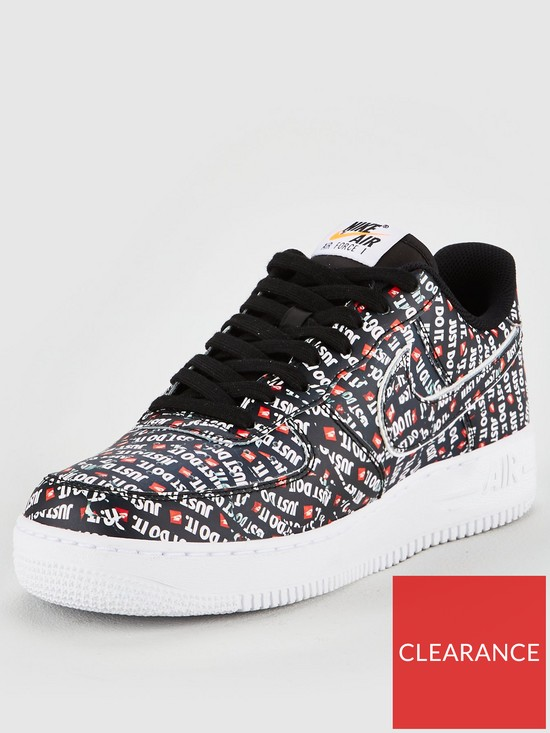 buy popular 6c94f 5e766 Nike Air Force 1  07 LV8 JDI Trainers - Black White Orange   very.co.uk