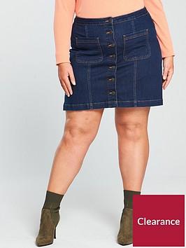 v-by-very-curve-denim-button-through-skirt-indigonbsp