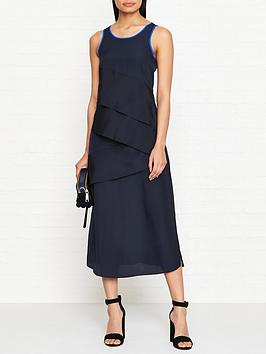 armani-exchange-tiered-maxi-dress-navy