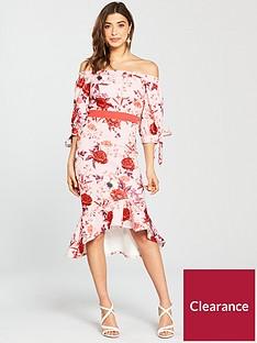 true-violet-bardot-printed-peplumnbsphem-midi-dress