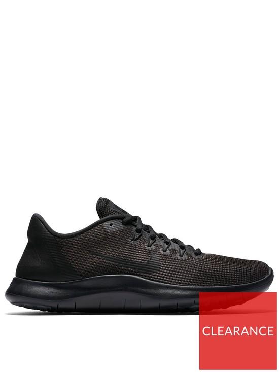 50917f86f4034 Nike Flex 2018 Run Trainers - Black