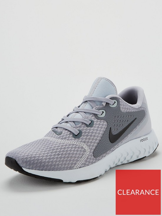 finest selection c3326 2593e Nike Rebel React Trainers - Grey
