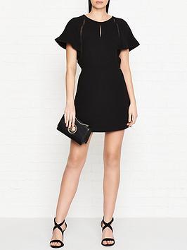 armani-exchange-open-back-skirt-panel-playsuit-black