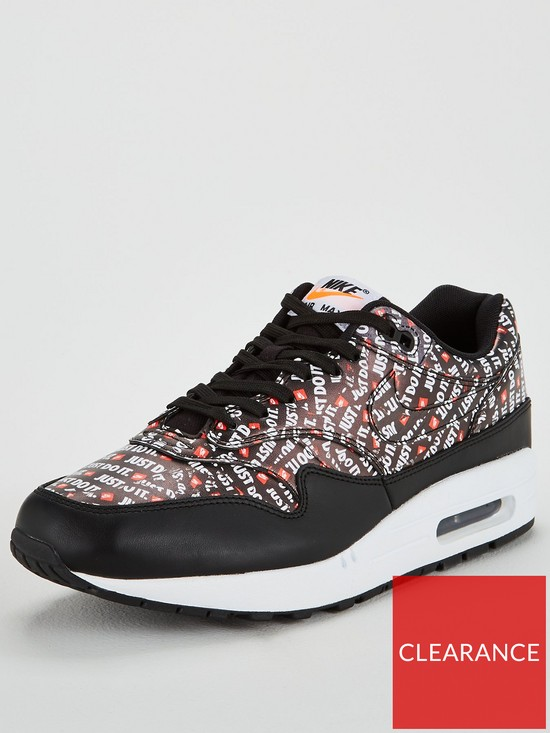 huge discount a45a4 e3a4a Nike Air Max 1 Premium - Black/White/Orange | very.co.uk
