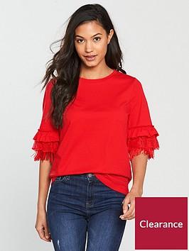 v-by-very-frill-fringe-t-shirt-rednbsp