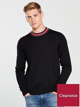 tommy-hilfiger-luxury-wool-neck-detail-jumper-black