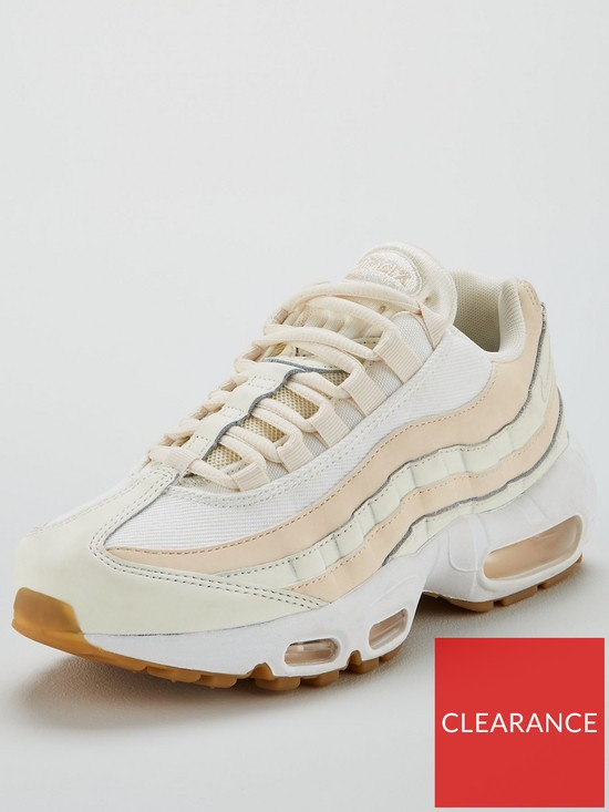 info for d52a0 f5387 Nike Air Max 95 - Off White/Pink | very.co.uk