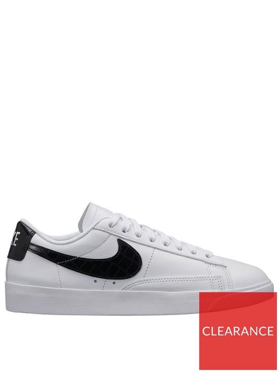 reputable site 1bd3b 3b9b6 Nike Blazer Low Essential - White Black