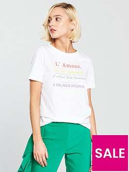 river-island-lamournbspprinted-t-shirt-white