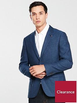 tommy-hilfiger-mensnbspmicro-pattern-cotton-blend-blazer-blue
