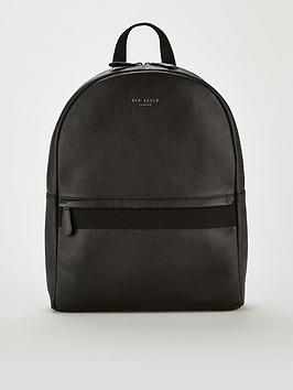 ted-baker-webbing-strap-leather-backpack