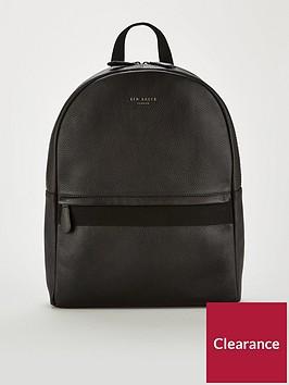 ted-baker-webbing-strap-leather-backpack