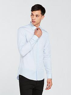 calvin-klein-slim-fit-dot-printed-shirt