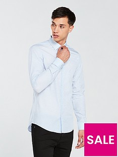 calvin-klein-slim-fit-dot-printed-shirt