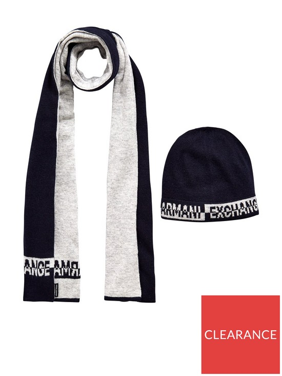 50680753c34 Armani Exchange Hat   Scarf Set