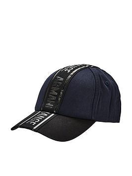 armani-exchange-stripe-logo-cap