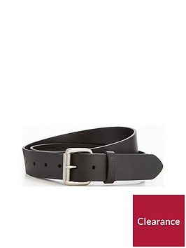 barbour-matt-black-leather-belt
