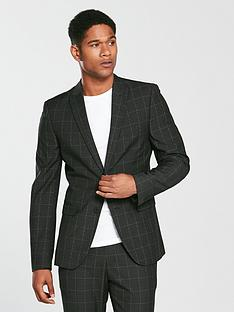 v-by-very-slim-check-suit-jacket-charcoal