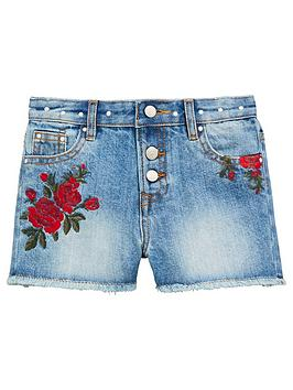 v-by-very-girls-embroidered-stud-denim-shorts