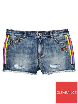 v-by-very-girls-taped-denim-short-mid-wash