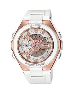 casio-baby-g-g-g-ms-shock-resist-white-and-gold-dial-white-strap-ladies-watch