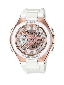 casio-g-g-ms-shock-resist-white-and-gold-dial-white-strap-ladies-watch