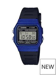 casio-casio-classic-collection-royal-blue-digital-dial-black-silicone-strap-watch