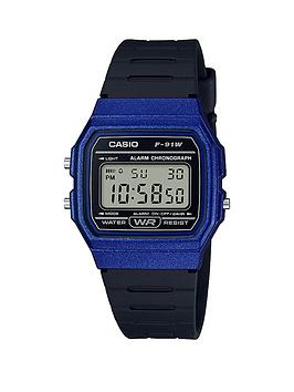 casio-classic-collection-royal-blue-digital-dial-black-silicone-strap-mens-watch