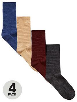 v-by-very-4pk-coloured-textured-socks