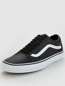Vans Old Skool Leather - Black/White