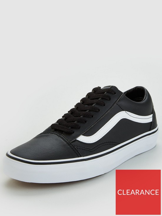 c1b52fa210077a Vans Old Skool Leather - Black White