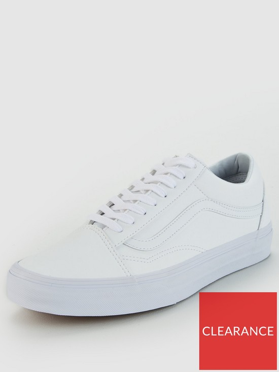 d8c6824ceaaf6 Vans Old Skool Leather - White | very.co.uk