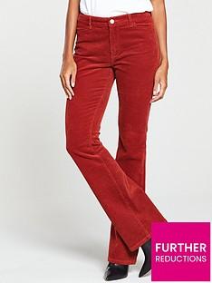 v-by-very-cord-flare-trouser-dark-tannbsp