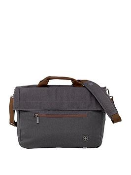 Wenger Sunscraper Double Flapover Business Case With Tablet Pocket - Grey