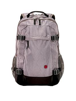 Wenger Wave Length 16 Inch Laptop Backpack With Tablet Pocket - Grey Print