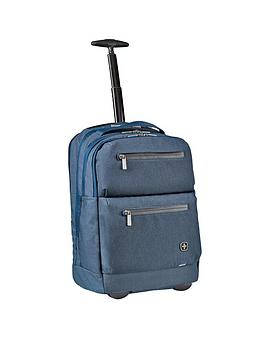 Wenger Citypatrol Laptop Rolling Backpack With Tablet Pocket - Navy
