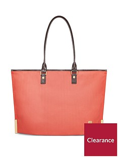 moshi-aria-ladies-lightweight-slim-tote-amber-orange
